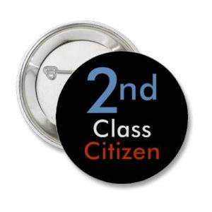 Second Class Citizen Button