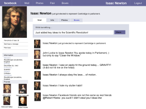 isaac newton's facebook page