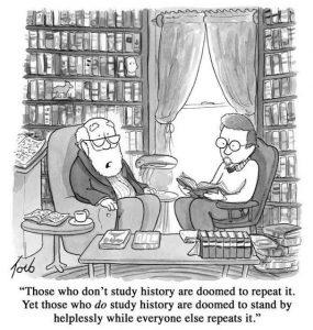 Repeating history cartoon